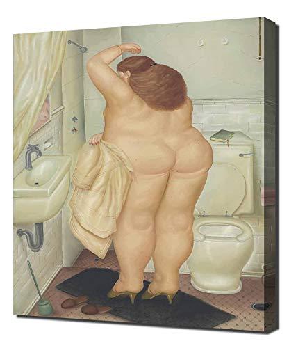 Pingoo Prints Fernando Botero Homenaje A Bonnard - Leinwandbild - Kunstdrucke - Gemälde Wandbilder