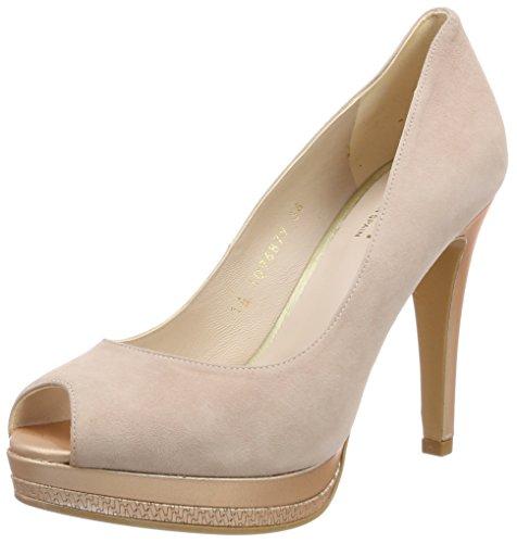 lodi Pastel-39, Zapatos de Tacón con Punta Abierta para Mujer, Rosa (Ginger Nude), 41 EU