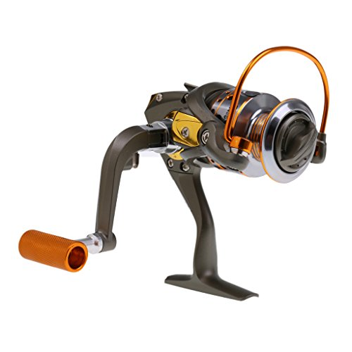 MagiDeal Carrete de Pesca Artículos Accesorios Deportivo Acuático Actividades Aire Libre Flexible Ajustable - 2000