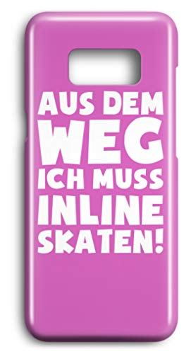shirt-o-magic Handyhülle Inline Skates: Muss Inline skaten! - Case -Samsung S7-Pink -