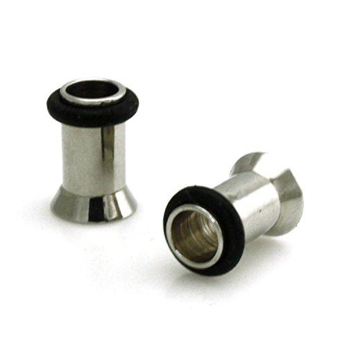 Cannabis marihuana Marihuana Barbell Fake Plug Túnel streacher solo pendiente 8 mm