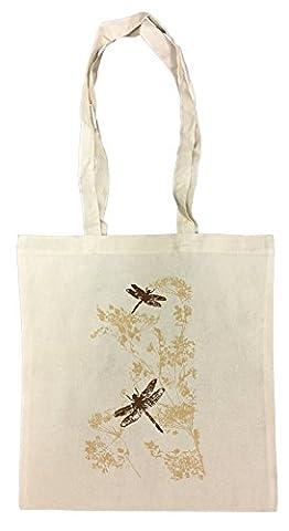 Dragonflies Shopping Bag Beach Cotton Reusable