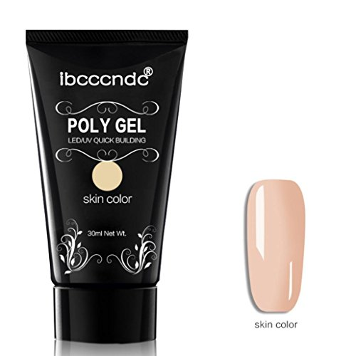 LCLrute Poly-Gel-dauerhafter Finger-Nagel-Kristallgelee-Tarnungs-UVlampen-Erweiterung 30ML (D) - Ziel Gel