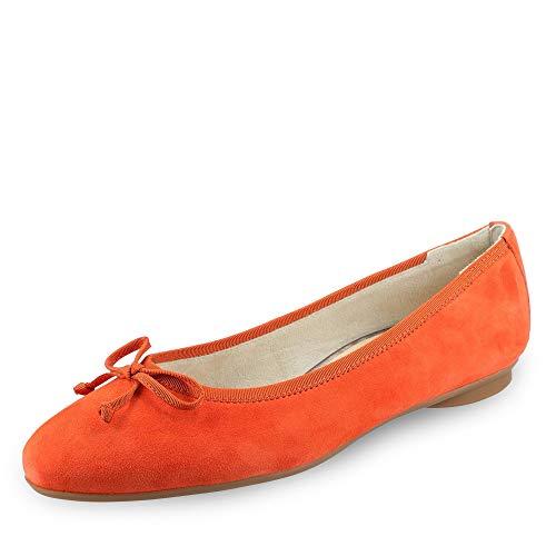 Paul Green 2598 214 Damen klassischer Ballerina Veloursleder Lederausstattung, Groesse 38, orange - Schuhe Frauen Orange Ballerinas