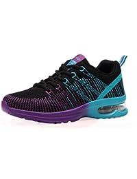 NEWZCERS El acoplamiento del resbalón del resbalón-en la plataforma de los zapatos de la plataforma de las mujeres calza la zapatilla de deporte, morado, 40