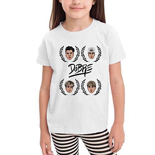 Kinder Jungen Mädchen Shirts Dobre Brothers T Shirt Kurzarm T-Shirt Für Kleinkind Jungen Mädchen Baumwolle Sommer Weiß 4 T - Baumwolle Terry Skirt