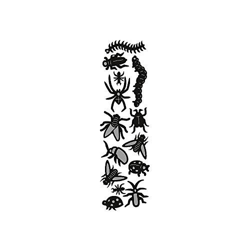 Marianne Design CR1383 Craftables Stanzform Locherschablone Spinnen und Käfer - Cutting Die, Stahl, grau, 16 x 8 x 0.4 cm
