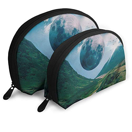 Kosmetiktasche Earth's Echo Toiletry Make Up Bag Bathroom Organizer Travel Case 2 Piece Set Echo Oxford