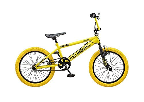 Rooster Kids\' Big Daddy Bmx Bike, Yellow/Black, 18-inch ...