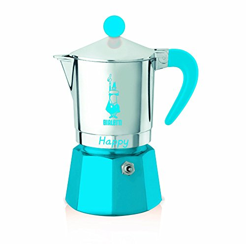 Bialetti - 8062 - Happy - Cafetière Italienne en Aluminium - 3 Tasses - Bleu