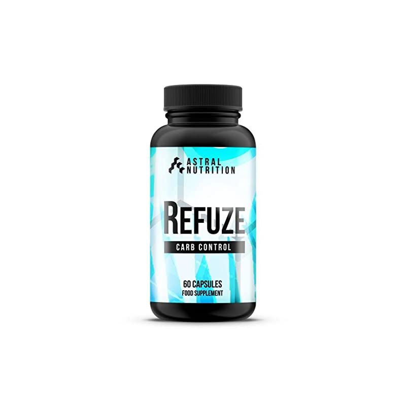 Refuze Carb Blocker – 1 Month Supply | Max Strength Carbohydrate Inhibitor | Advanced Weight Loss Formula