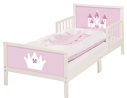 *roba Themenbett 'Schloß', Kinderbett 70x140cm inkl, Bettwäsche für Mädchen*