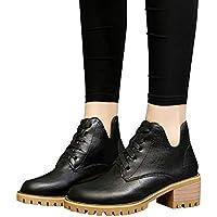 Geili Damen Stiefeletten Lederstiefel Schnürstiefel mit Blockabsatz Frauen High Heels Kurzschaft Übergrößen Boots... preisvergleich bei billige-tabletten.eu