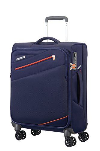American Tourister - Pikes peak spinner equipaje de mano, azul (carbone blue), S (55cm-40L)