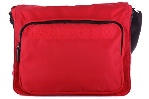 Dsquared2 borsa uomo a tracolla borsello in nylon antony rosso