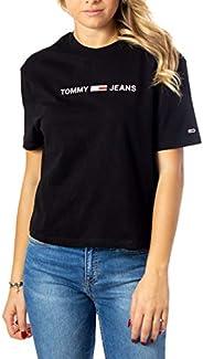 Tommy Hilfiger Women's TJW Linear Logo Detail T-S