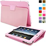 TheSnugg B008XF93TI - tablet cases (Folio, Pink, PU leather, Apple, iPad 2, Dust resistant, Scratch resistant)
