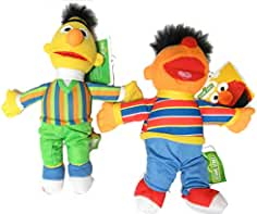 99acebfcdd Sesamstraße Paar 2 Plüsch 20cm Bert und Ernie Original Offizielle Muppets  Sesame Street