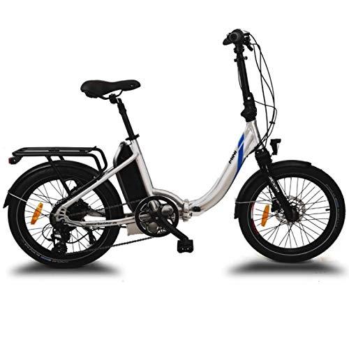 URBANBIKER vélo électrique Pliant Mini(Argent) .Batterie Lithium Samsung 36 V 14 Ah (504 Wh) Moteur 250W. 20 Pouces, Freins hydrauliques Shimano