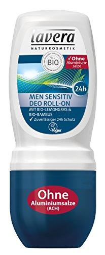 lavera Deo Roll On Men Sensitiv ∙ Deodorant Männer ∙ 24 Stunden Deo Schutz ∙ vegan ✔ Bio ✔ Natural & innovative ✔ Naturkosmetik ∙ Körperpflege 1er Pack (1 x 50 ml)