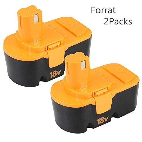 Preisvergleich Produktbild 2X Forrat Für Ryobi Akku 18V 3000mAh Ersatz Batterie One Plus P100 ABP1801 ABP1803 BPP-1813