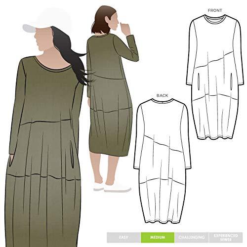 Drape Jersey Dress (Style Arc Schnittmuster - Venice Knit Dress Sizes 04-16)