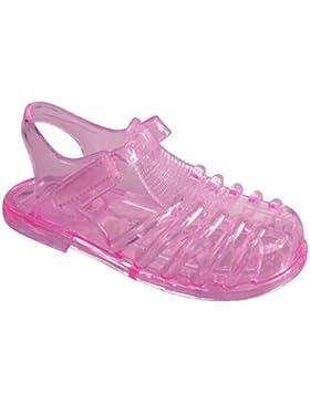 Niños AQUA-SPEED zapatillas flip flop/Zapatillas de baño con suela antideslizante Inka 483-03 (rosa, 18)