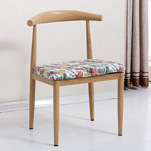 seeksungm Chaise, simple imitation bois Horn Chaise, Low Carbon Eco-Friendly Restaurant Chaise, simple Casual Fauteuil, Total hauteur 75 cm * Largeur 47 cm, vert