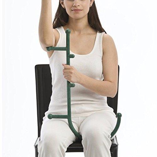 Nakital Massage Hook, Trigger Point Self Massaging Lower Back, Neck, Shoulder Massager Better Myofascial Release Pressure Sore Muscles Benefits Body Back Massager Tools