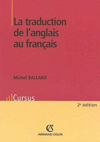 La traduction de l'anglais au franais