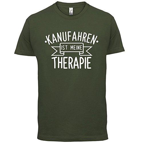 Kanufahren ist meine Therapie - Herren T-Shirt - 13 Farben Olivgrün