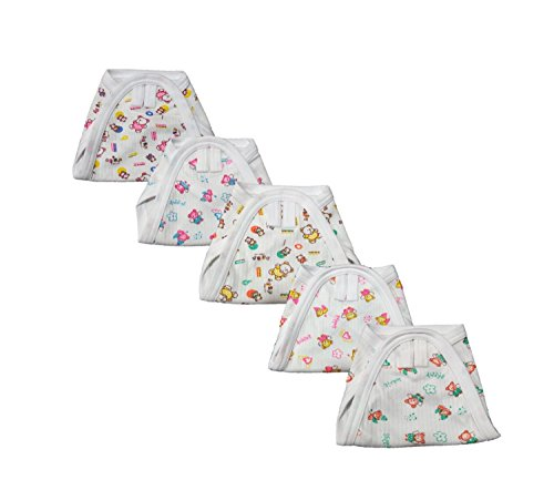 First Step New Born Baby Cotton Cloth Nappies (Pack Of 5) (Mix Color Print)