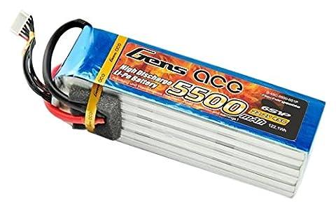 Gens ace LiPo Batterie 5500mAh 22.2V 45C 6S pour Passe-temps RC Toys RC Car RC Hélicoptères RC Avion RC Bateau RC Truck