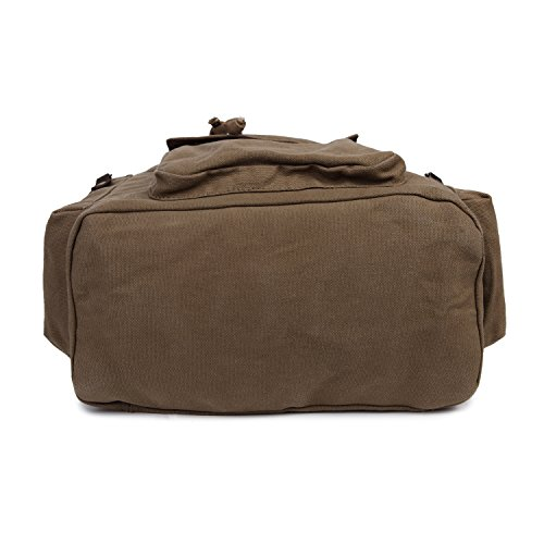 Herren Damen Vintage-Rucksack Canvas Rucksack Schultasche Schultasche Tasche Wandern Daypacks Snowboard-Rucksäcke (Green) army grün