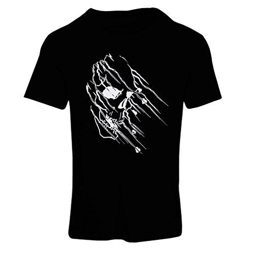 lepni.me Maglietta Donna Art Skull - Vintage t Shirts (Small Nero Multicolore)