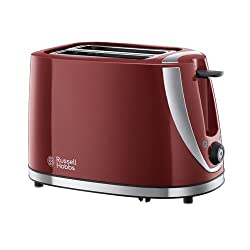 Red: Russell Hobbs Mode 2-Slice Toaster 21411 - Red