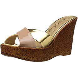 Catwalk Women's Gold Slippers - 7 UK (6726XX)