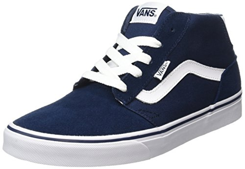 Vans Herren Chapman Mid High-Top, Blau (Suede Canvas dress blues/white), 42 EU (Suede Blue Vans)
