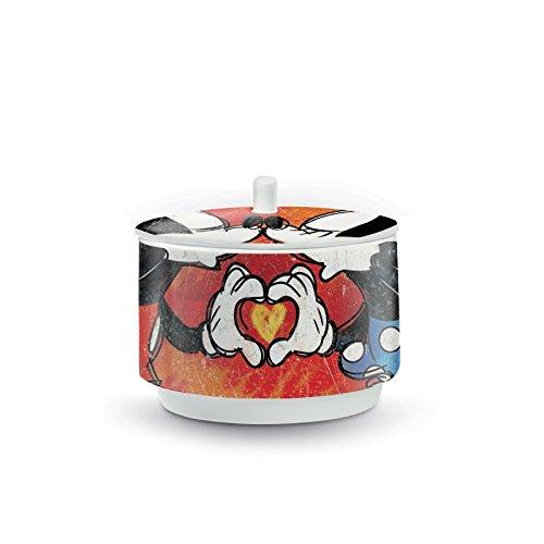 Disney Walt pwm41/S Sucrier, modèle Sweet Love, Porcelaine, Rouge