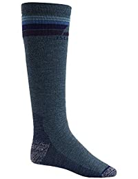 Burton Emblem Midweight Calcetines de Snowboard, Hombre, Azul (Indigo Heather), M
