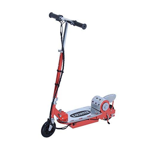 Homcom Patinete Eléctrico Scooter Plegable Rojo Patinete...
