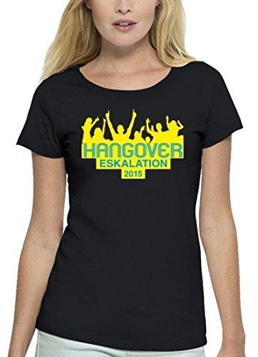 JGA Premium Damen T-Shirt aus Bio Baumwolle JGA 37 - CROWD HANGOVER Stanley Stella Black