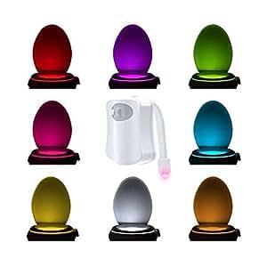 multicolores wc veilleuse lumi re lampe led mouvement active capteur lumi re nuit cuvette de. Black Bedroom Furniture Sets. Home Design Ideas