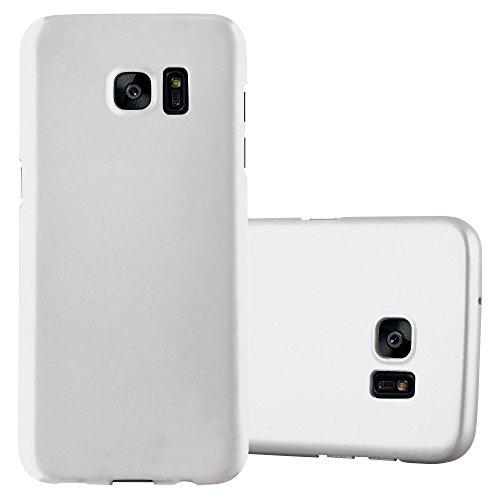 Cadorabo Hülle für Samsung Galaxy S7 Edge - Hülle in Metall Silber - Hardcase Handyhülle im Matt Metal Design - Schutzhülle Bumper Back Case Cover Silber Metal Case