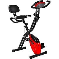 Preisvergleich für Merax Faltbares Fitnessfahrrad X-Bike F-Bike Heimtrainer Fitnessbike mit Rücklehne Armlehnen und Trainingscomputer/Handpulssensoren