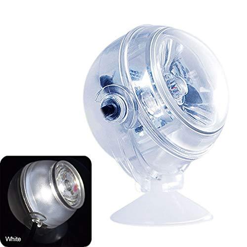 Starmood Aquarium LED Licht Wasserdicht Unterwasser Strahler Marine Nacht/Tauchen Licht Aquarium Lampe Deko Zubehör - Weiß -