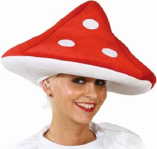 Fancy Me Cappello per Travestimento da Uomo e da Donna, Motivo: Fungo, Colore: Rosso