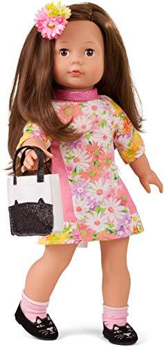 Götz 1790399 Precious Day Girls Elisabeth Puppe Daisy Do - 46 cm große Stehpuppe, braune Haare, braune Schlafaugen - 9-teiliges Spielzeug-Set