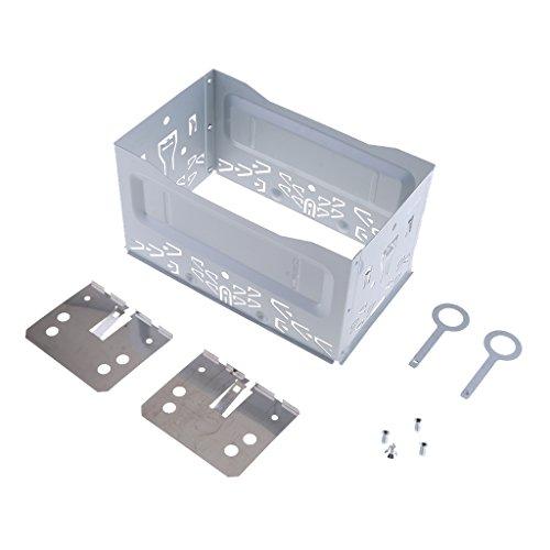 MagiDeal Kit de Reparación de Audio, Repuesto Automotriz ISO 2 DIN Instale Soporte de Jaula de Metal