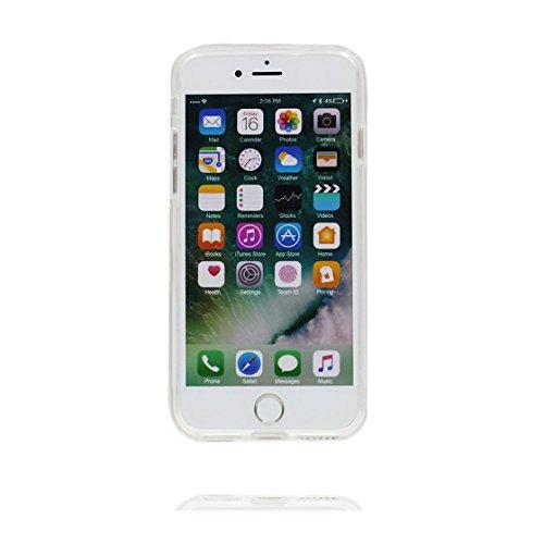 iPhone 7 Plus Custodia / iPhone 7 Plus Copertura / iPhone 7 Plus Case 5.5 Cartoon farfalla Ragazza, Materiale in gomma trasparente al silicone contro graffi color 4